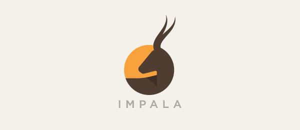 创意太阳logo设计灵感-黑斑羚