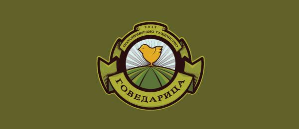 创意太阳logo设计灵感-Govedarica家庭农场企业标志