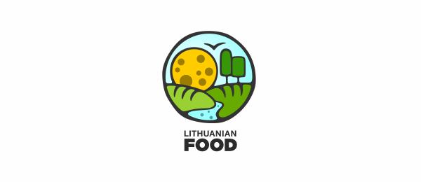 创意太阳logo设计灵感-立陶宛食物农业logo