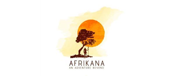 创意太阳logo设计灵感-非洲乡村