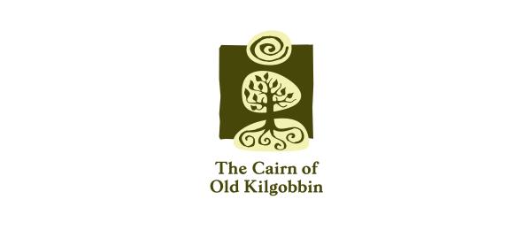 创意太阳logo设计灵感-老Kilgobbin的石标农场标志