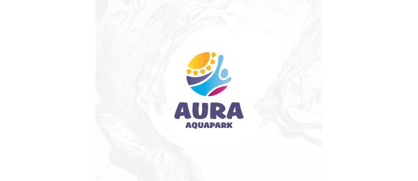 创意太阳logo设计灵感-Aquapark标志