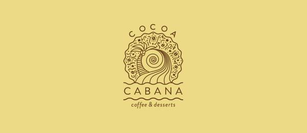 创意太阳logo设计灵感-咖啡店商标可可粉小屋