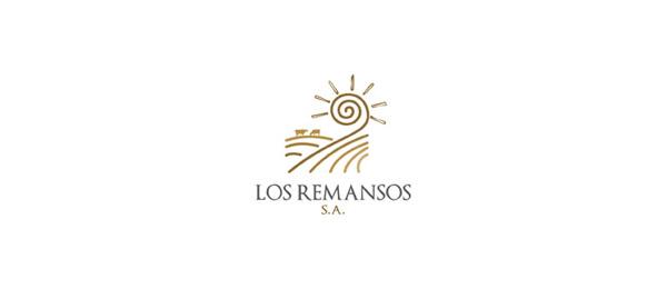 创意太阳logo设计灵感-los Remansos农业公司logo
