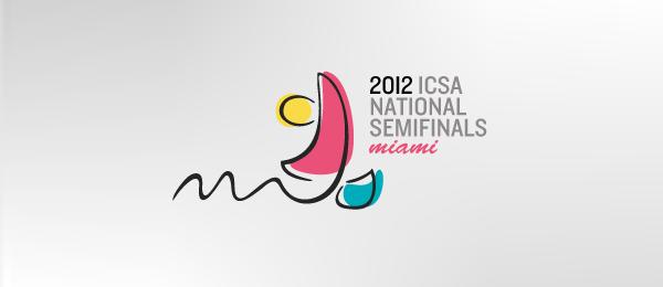 创意太阳logo设计灵感-2012年ICSA半决赛迈阿密