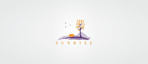 创意太阳logo设计灵感-日出