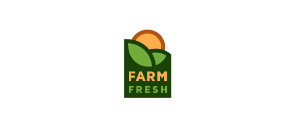 创意太阳logo设计灵感-新鲜农场logo