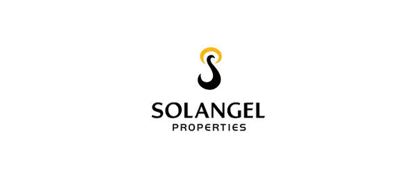 创意太阳logo设计灵感-Solangel字母S+太阳logo