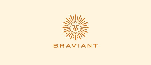 创意太阳logo设计灵感-Braviant