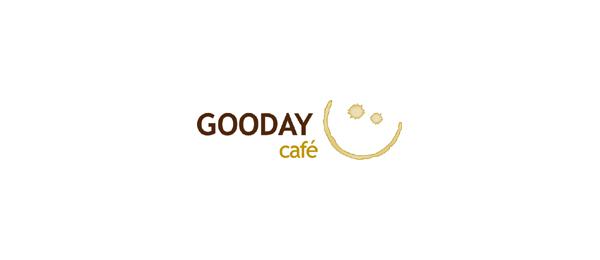 创意太阳logo设计灵感-Gooday咖啡厅logo