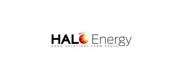创意太阳logo设计灵感-光晕能源标志