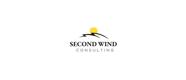 创意太阳logo设计灵感-第二风咨询公司太阳logo