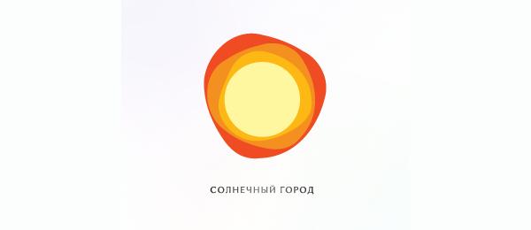 创意太阳logo设计灵感-晴朗的城市