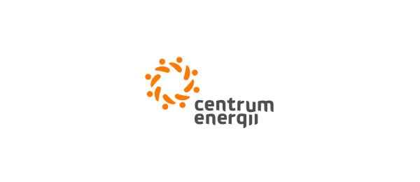 创意太阳logo设计灵感-能源中心标志