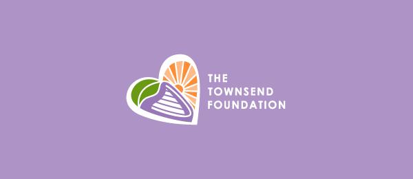 创意太阳logo设计灵感-汤森基金会蝴蝶太阳logo