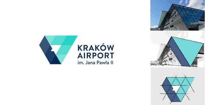 正负空间logo-Krakow Airport(克拉科夫机场)logo设计