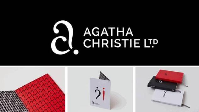 正负空间logo-Agatha 出版公司logo设计