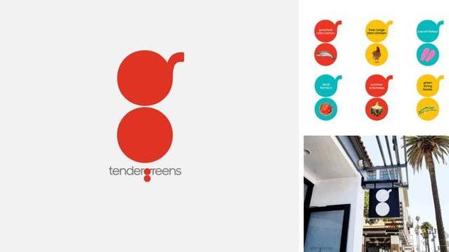 几何演绎logo-Tender Greens(美国连锁快餐店)logo设计