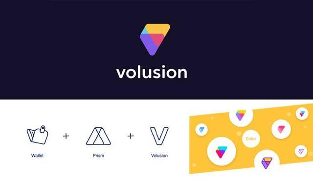 几何演绎logo-Volusion(美国知名电子商务网站平台)logo设计