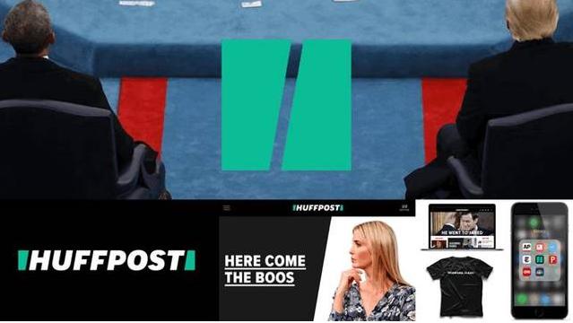 几何演绎logo-Huffpost(美国最具影响力新闻网站《赫芬顿邮报 》)logo设计