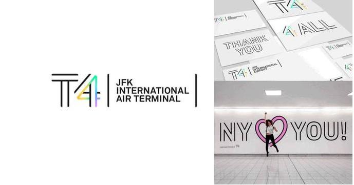 线条化logo设计-JFKIAT(肯尼迪国际机场4号航站楼)logo设计