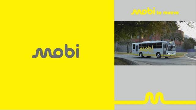 文字商标logo-Mobi(公共交通系统品牌视觉设计)logo设计
