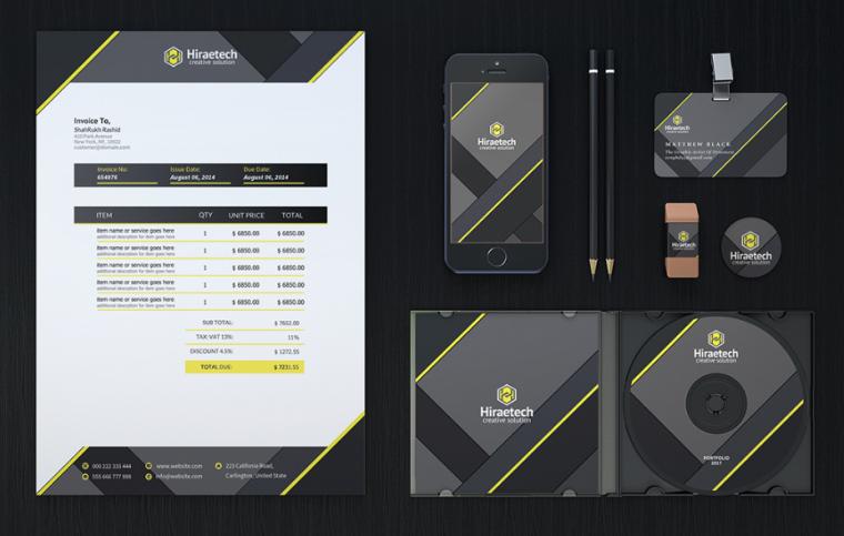 浓浓工业风 Hiraetech企业万博安卓版VI视觉形象识别万博网页版手机登录模板