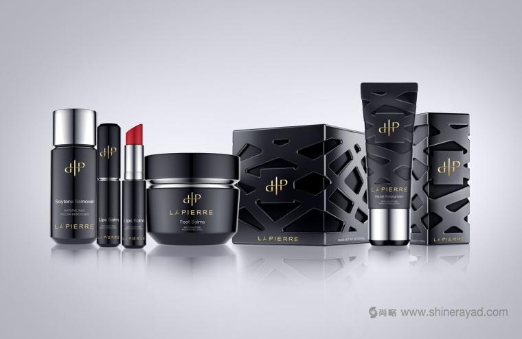 LaPierre 指甲油品牌浮雕镂空风格包装设计-上海化妆品包装设计公司
