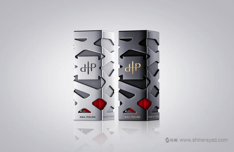 LaPierre 指甲油品牌浮雕镂空风格包装设计-上海包装设计公司