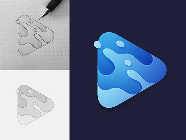 渐变胶印logo设计-2017年10个最受欢迎的或即将到来的logo设计趋势-上海logo设计公司