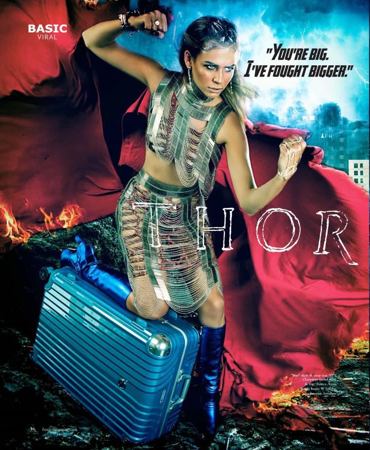 """DESENO拉杆箱""""女子超级英雄""""系列平面广告海报创意万博网页版手机登录欣赏- 雷神"""