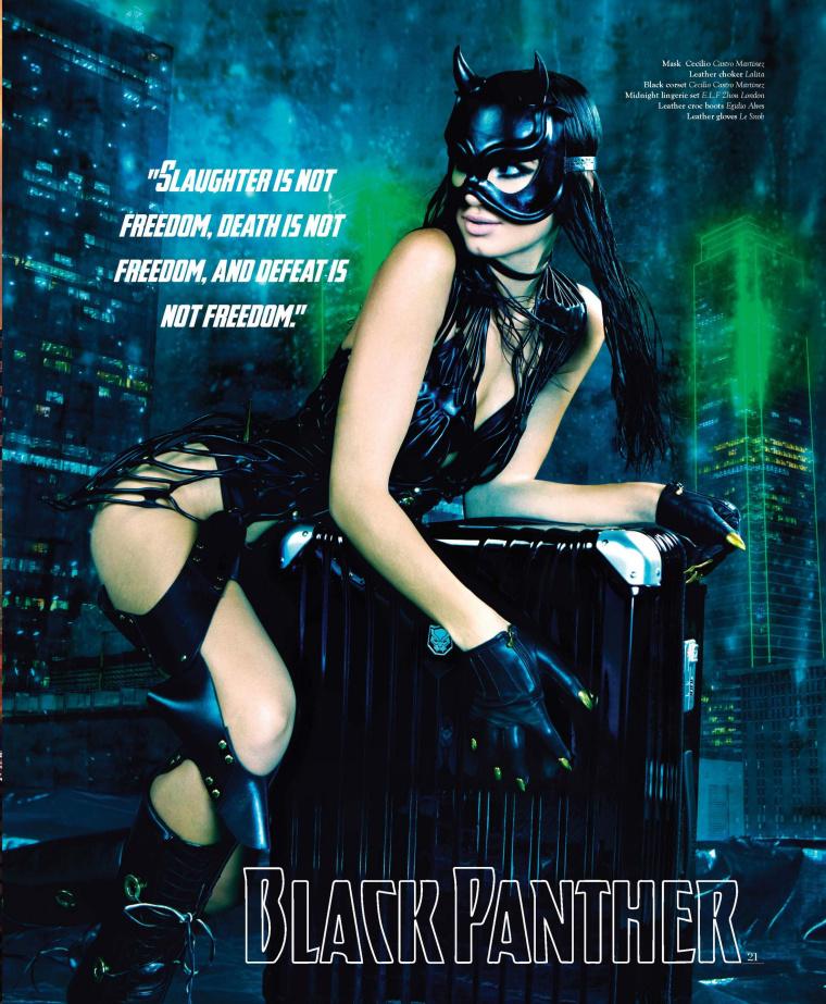 """DESENO拉杆箱""""女子超级英雄""""系列平面广告海报创意万博网页版手机登录欣赏-黑豹"""