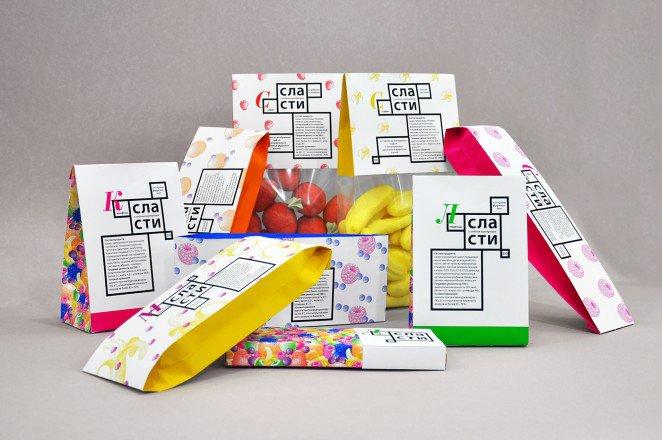 上海包装设计公司分享-50个令人惊叹的疯狂创意包装设计案例-使用明亮的色彩-糖果包装设计