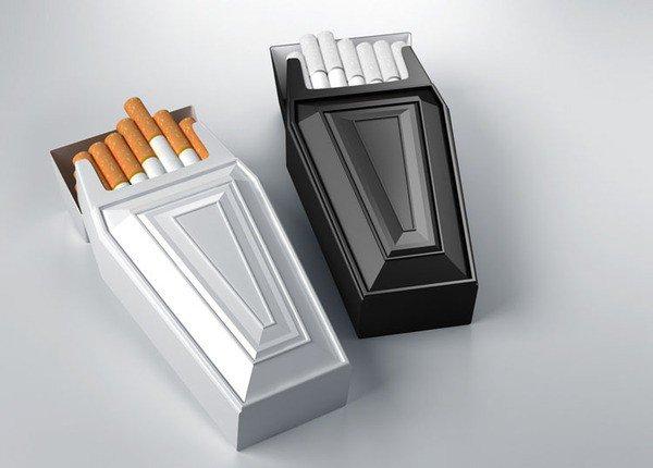 上海包装设计公司分享-50个令人惊叹的疯狂创意包装设计案例-棺材创意香烟包装设计