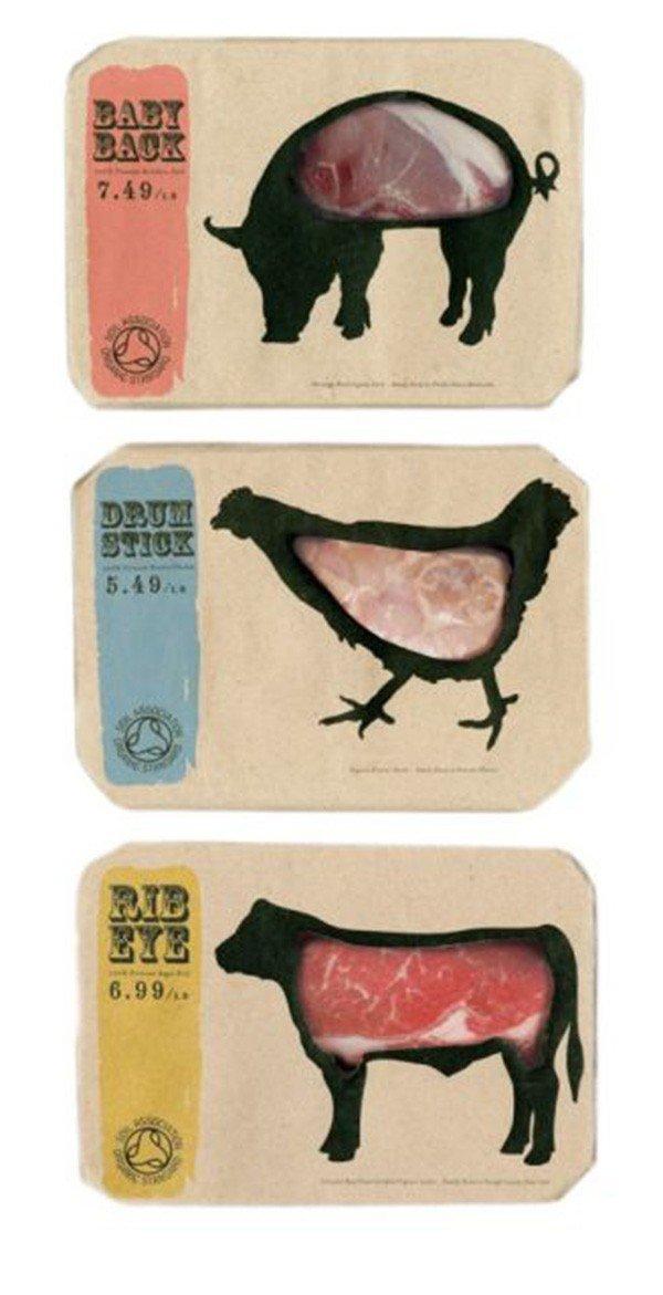 上海包装设计公司分享-50个令人惊叹的疯狂创意包装设计案例-肉类包装设计
