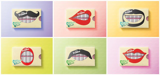 上海包装设计公司分享-50个令人惊叹的疯狂创意包装设计案例-口香糖包装设计