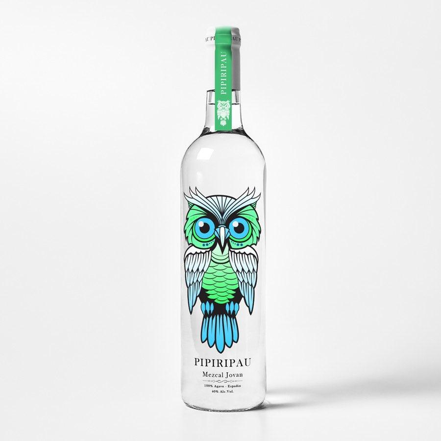酒包装设计猫头鹰插画设计-上海包装设计公司