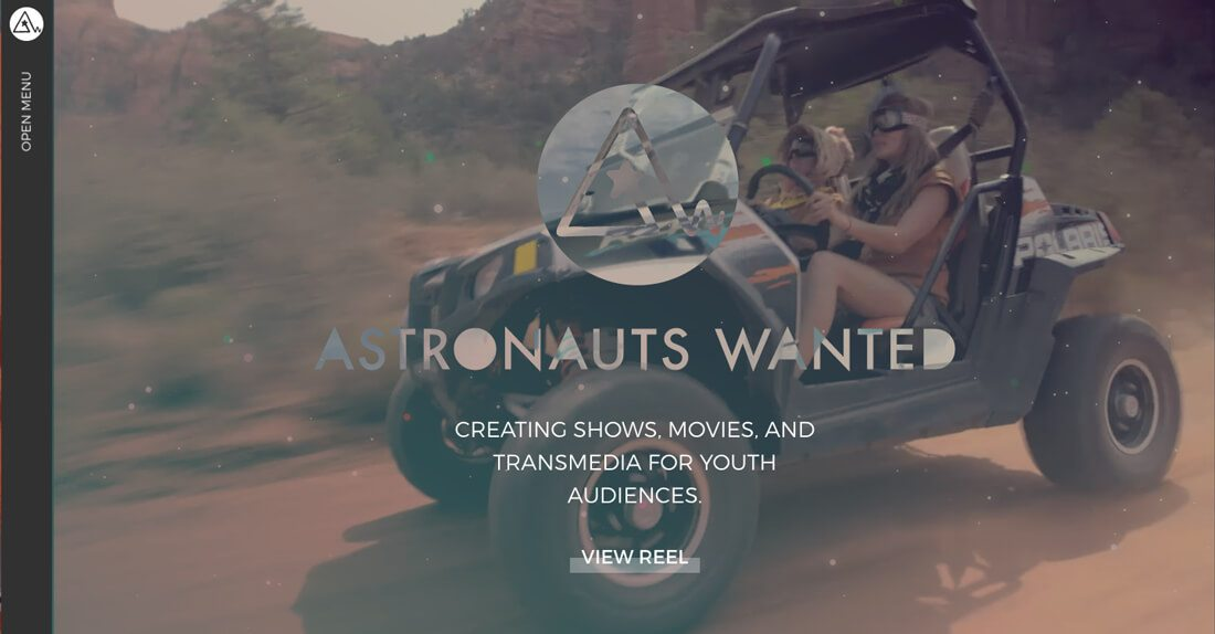 Astronauts Wanted网站设计-中心的两边都有足够的空间
