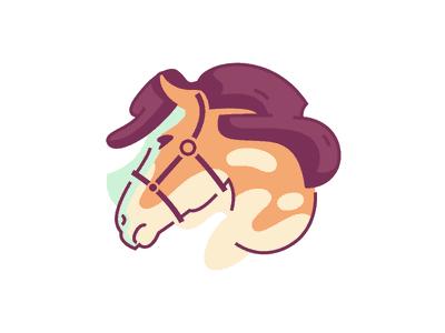 水彩马logo设计