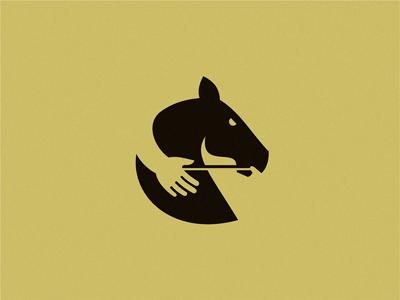 手加马logo设计