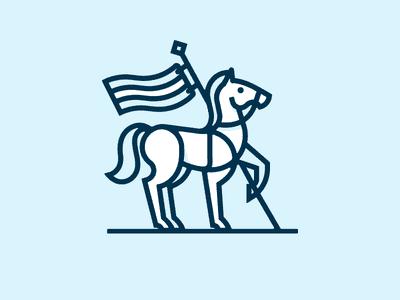 马加旗子logo设计
