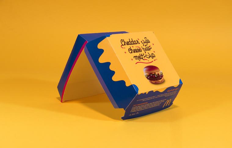 麦当劳汉堡薯条奶酪外卖食品套餐包装设计图片
