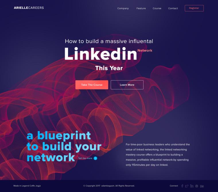 2018年9个最前沿的网页设计趋势-充满活力,饱和的配色方案