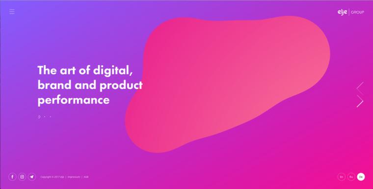 2018年9个最前沿的网页设计趋势-动态渐变
