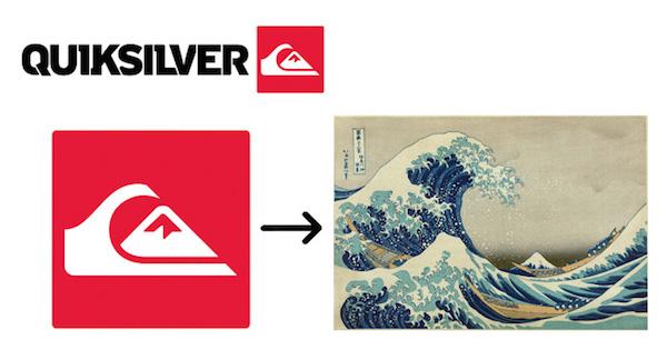 Quiksilver logo—标志创意释义—上海logo设计公司logo培训
