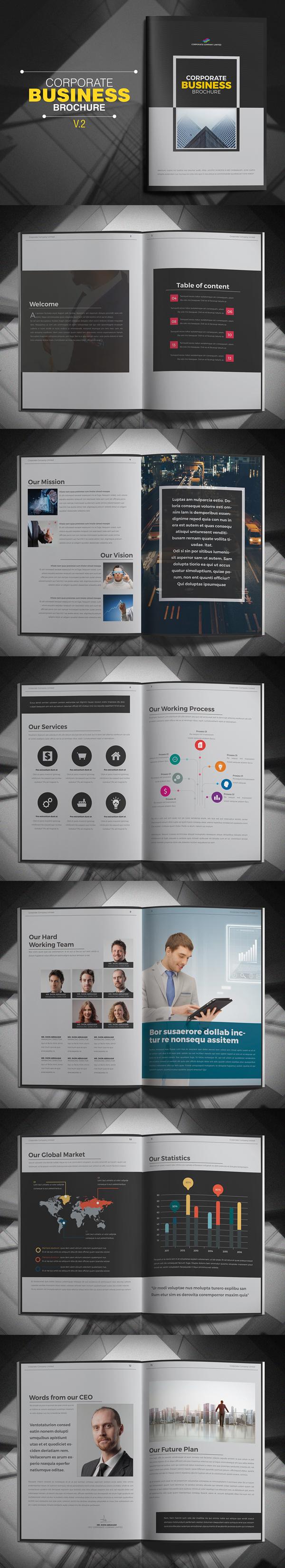 上海画册设计公司创意画册-公司业务宣传册设计模板