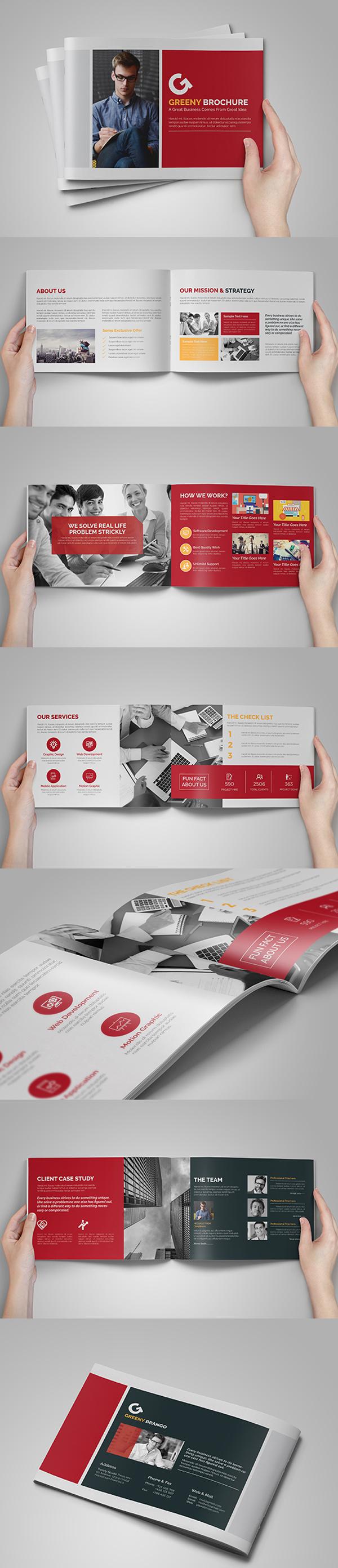 上海画册设计公司创意画册-A5 14P企业手册目录多用途设计模板