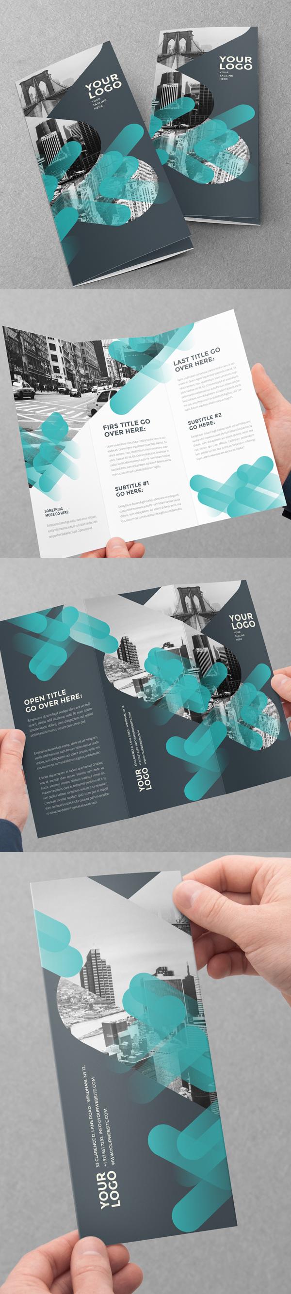 上海画册设计公司创意画册-现代创意三栏式小册子设计模版