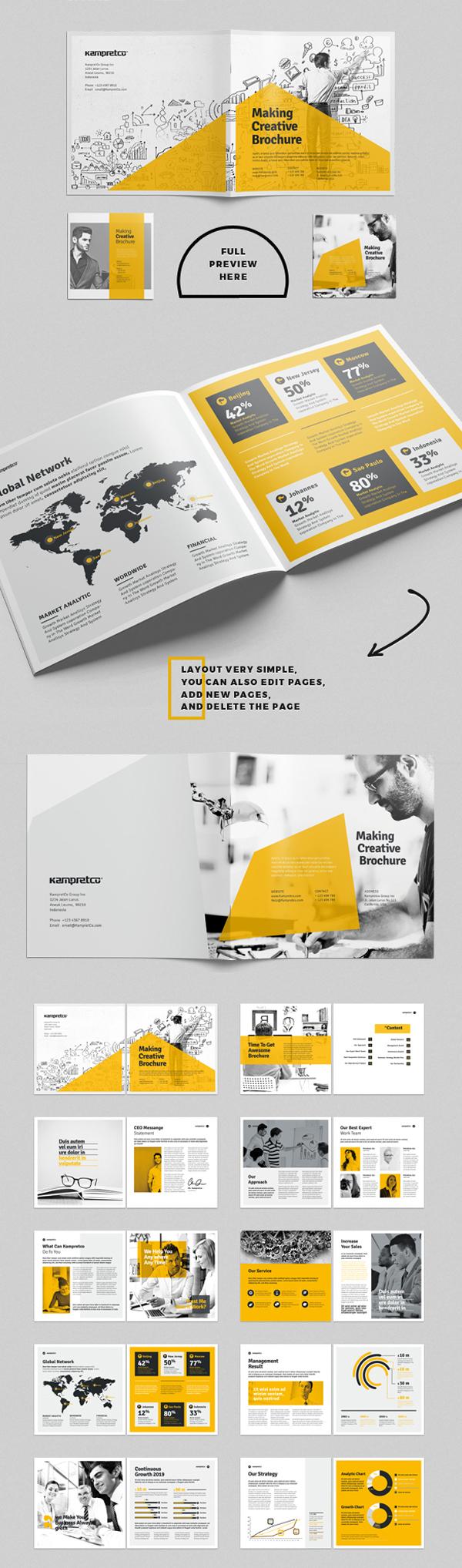 上海画册设计公司创意画册-26P企业方形宣传册设计