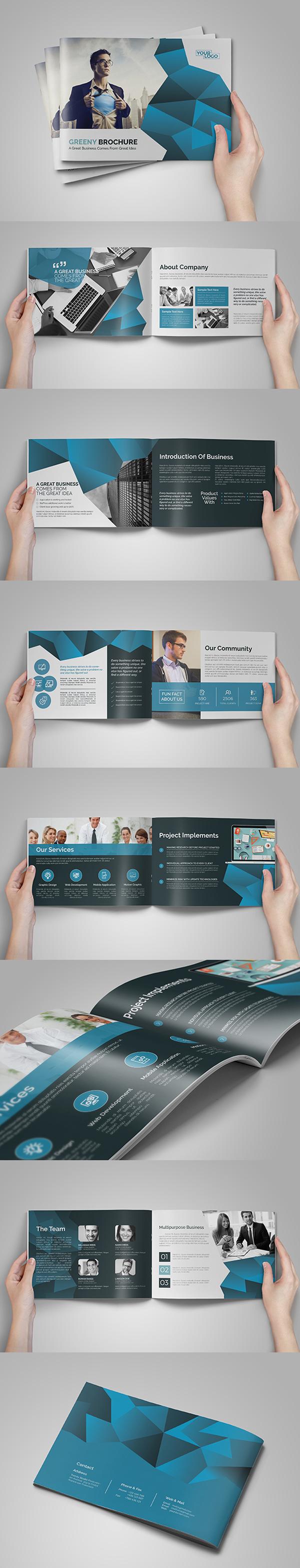 上海画册设计公司创意画册-A5抽象业务宣传册/目录设计模版